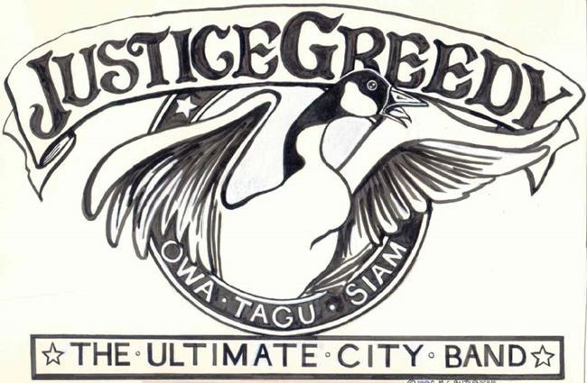 Art: Justice Greedy Logo by Artist Madeline  Carol Matz