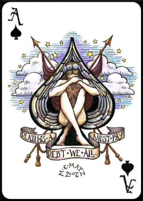 Art: Ace of Spades by Artist Madeline  Carol Matz