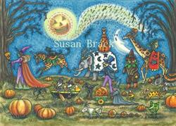 Art: NIGHT OF THE HALLOWS EVE PARADE by Artist Susan Brack