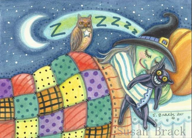 Art: WITCHES NEED THEIR BEAUTY SLEEP by Artist Susan Brack