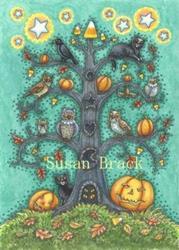 Art: THE CANDY CORN TREE by Artist Susan Brack