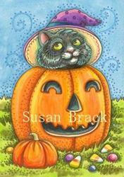 Art: HALLOWEEN KITTEN by Artist Susan Brack