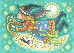Art: MOONBEAMS AND BAT WINGS by Artist Susan Brack