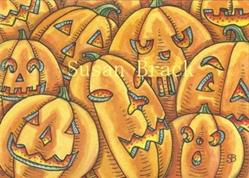 Art: WHEN THE PUMPKINS GATHER by Artist Susan Brack