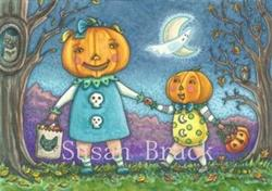 Art: PUMPKIN CHILDREN ON A HALLOWS EVE by Artist Susan Brack