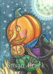 Art: JACK AND HIS CAT by Artist Susan Brack