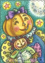 Art: LITTLE PENNY PUMPKIN by Artist Susan Brack