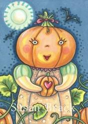 Art: PUMPKIN PATCH BABY by Artist Susan Brack