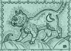Art: ON THE PUMPKIN TRAIL - Stamp by Artist Susan Brack