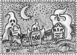 Art: PEEK A BOOO - Stamp by Artist Susan Brack