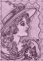 Art: BEWITCHING VICTORIA - Stamp by Artist Susan Brack