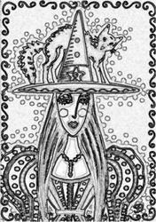 Art: ESMERALDA - Stamp by Artist Susan Brack