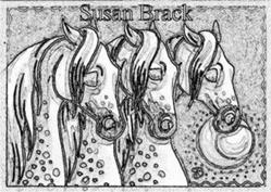 Art: NIGHTMARES - Horse Stamp by Artist Susan Brack