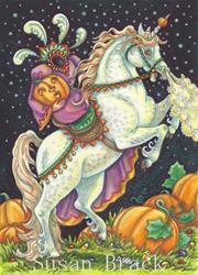 Art: NIGHT OF THE HEADLESS HORSEWOMAN by Artist Susan Brack