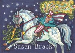 Art: UNCLE SAM RIDES ON THE FOURTH OF JULY by Artist Susan Brack