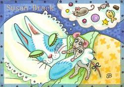 Art: HNF DREAMS OF XMAS MORN by Artist Susan Brack