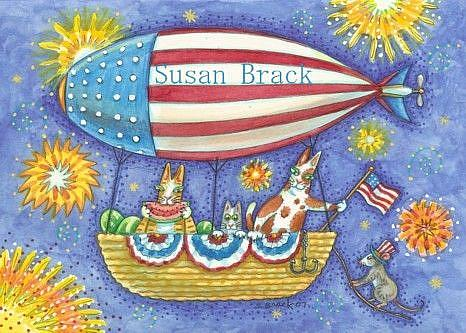 Art: Hiss N' Fitz UP HIGH FOR THE 4TH OF JULY by Artist Susan Brack