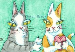 Art: Hiss N' Fitz - DON'T STEAL MY HEART by Artist Susan Brack