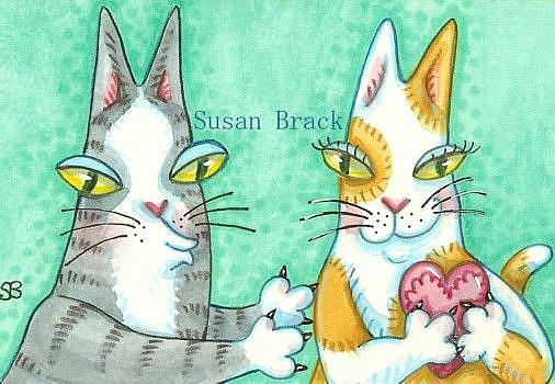 Art: Hiss N' Fitz - DON'T STEAL MY HEART by Artist Susan Brack