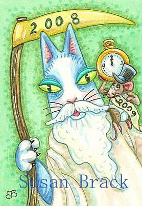 art hiss n fitz father time and little new year by artist susan