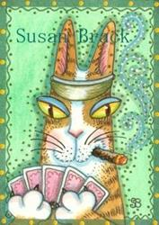 Art: Hiss N' Fitz - POKER FACE by Artist Susan Brack