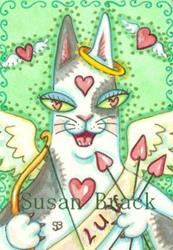 Art: HISS N' FITZ - LOVE STRUCK CUPID by Artist Susan Brack