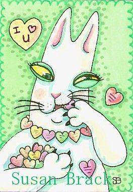 Art: Hiss N' Fitz - HAPPY CANDY HEART'S DAY by Artist Susan Brack