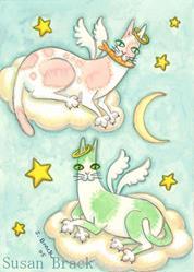 Art: ALL GOOD CATS GO TO HEAVEN by Artist Susan Brack