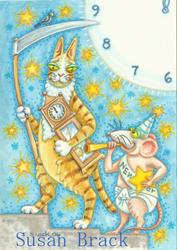 Art: Hiss N' Fitz - FATHER TIME AND BABY NEW YEAR by Artist Susan Brack
