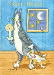 Art: Hiss N' Fitz - CAT NAP TIME by Artist Susan Brack