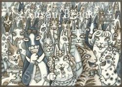 Art: A.  HISS N' FITZ series LIFE'S A PARTY by Artist Susan Brack