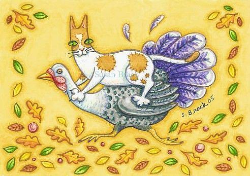 Art: HISS N FITZ WILD TURKEY RIDE by Artist Susan Brack