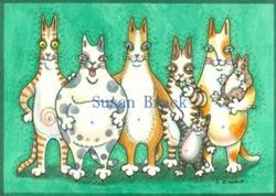 Art: Hiss N' Fitz - PURRS COME IN ALL SHAPES AND SIZES by Artist Susan Brack