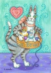 Art: Hiss N' Fitz - BASKETFULL OF MISCHIEF by Artist Susan Brack