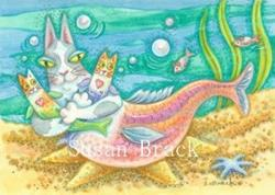 Art: Hiss N' Fitz - RAINBOW KITTY TROUT by Artist Susan Brack