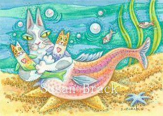 Art: Hiss N' Fitz - RAINBOW KITTY TROUT by Artist Susan Brack