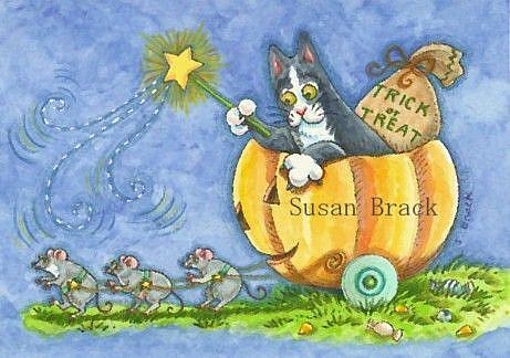 Art: Hiss N' Fitz - ENCHANTED PUMPKIN RIDE by Artist Susan Brack