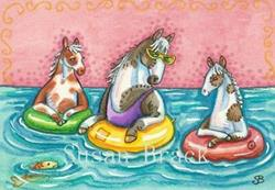 Art: CHINCOTEAGUES FLOAT by Artist Susan Brack