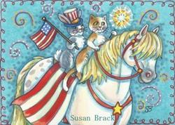 Art: EVERYONE LOVES A PARADE by Artist Susan Brack