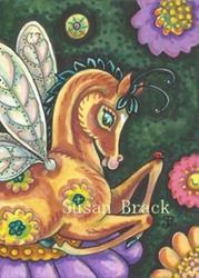 Art: LITTLE BAY HORSEFLY FILLY by Artist Susan Brack