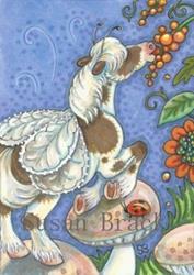 Art: TOADSTOOLS ARE HANDY by Artist Susan Brack