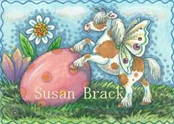Art: EASTER EGG ROLL by Artist Susan Brack