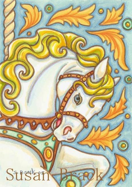 Art: CAROUSEL STEED by Artist Susan Brack
