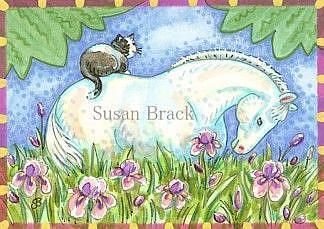 Art: FIELD OF IRIS by Artist Susan Brack