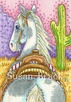Art: SADDLED AND READY TO RIDE by Artist Susan Brack
