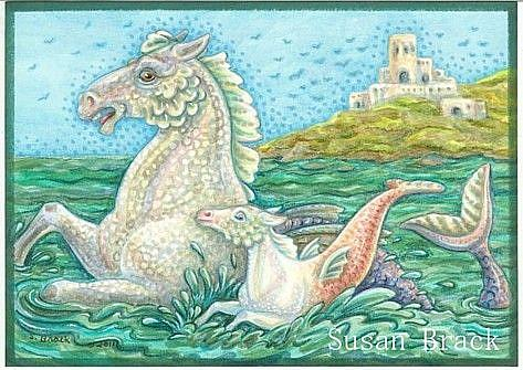 Art: MERHORSE BAY by Artist Susan Brack