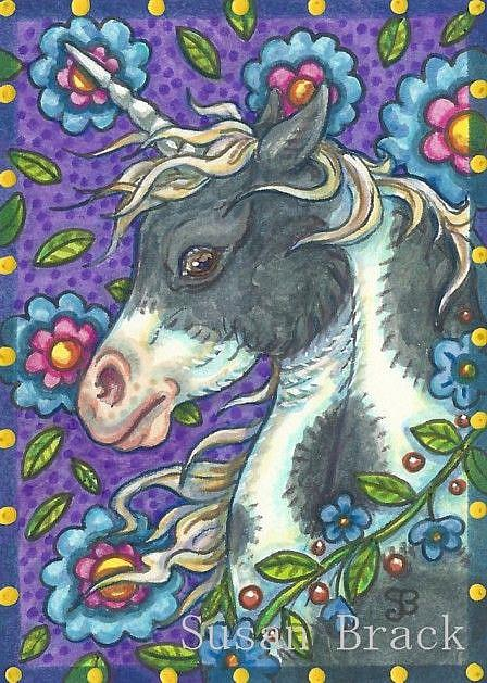 Art: UNICORN MUSTANG by Artist Susan Brack