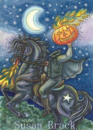 Art: NIGHT OF THE HEADLESS HORSEMAN by Artist Susan Brack