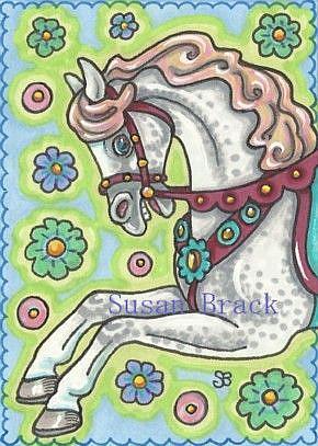 Art: CAROUSEL DAPPLE GRAY by Artist Susan Brack