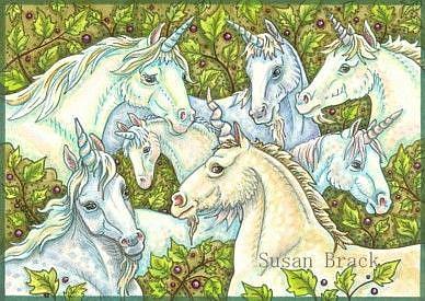 Art: WHEN UNICORNS GATHER by Artist Susan Brack